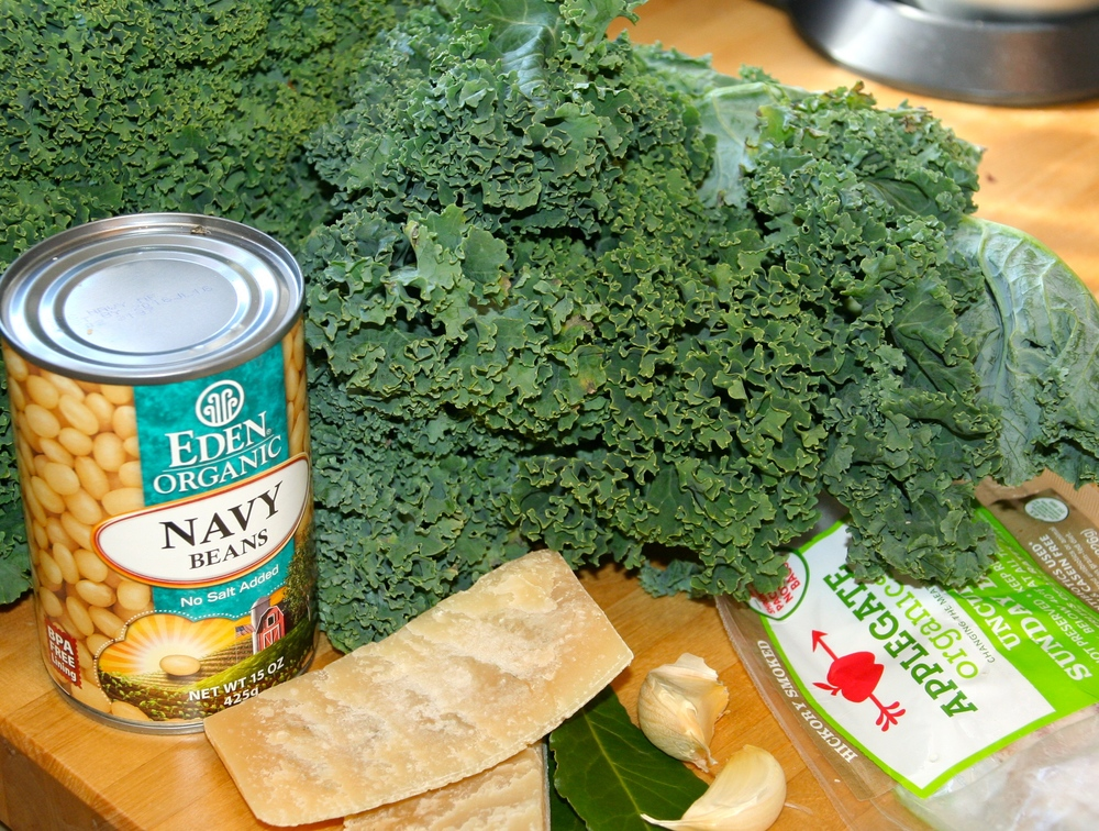 Simple ingredients for Kale Soup