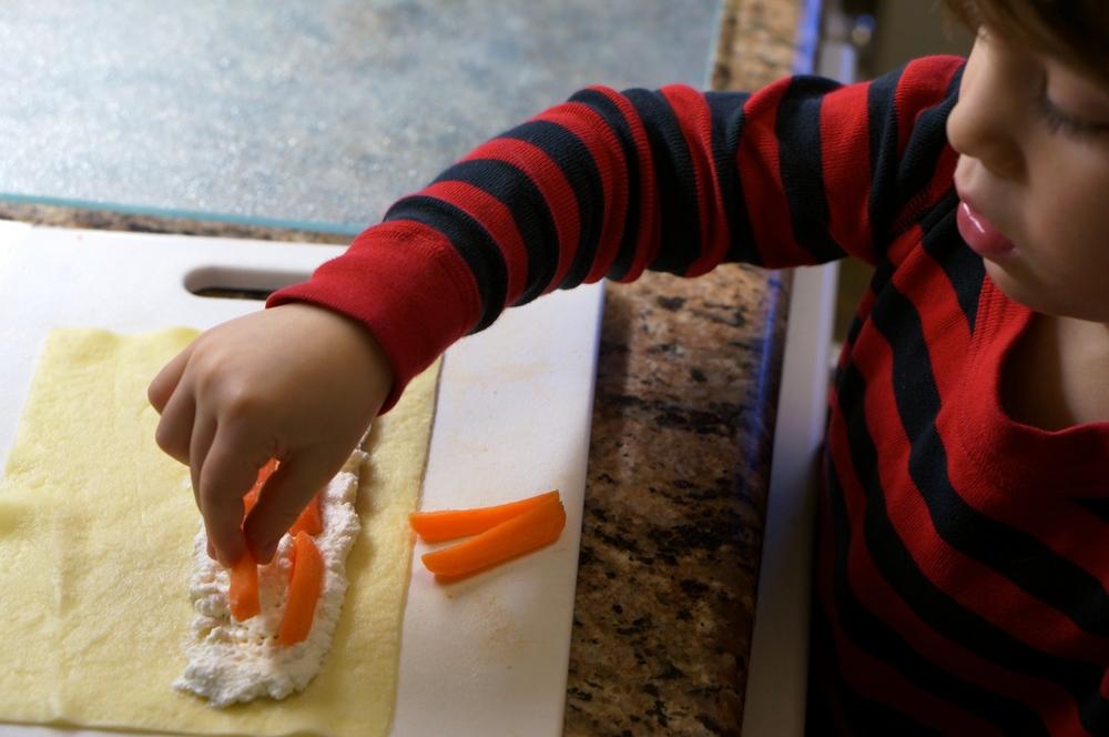 Ricotta Carrot Roll Ups