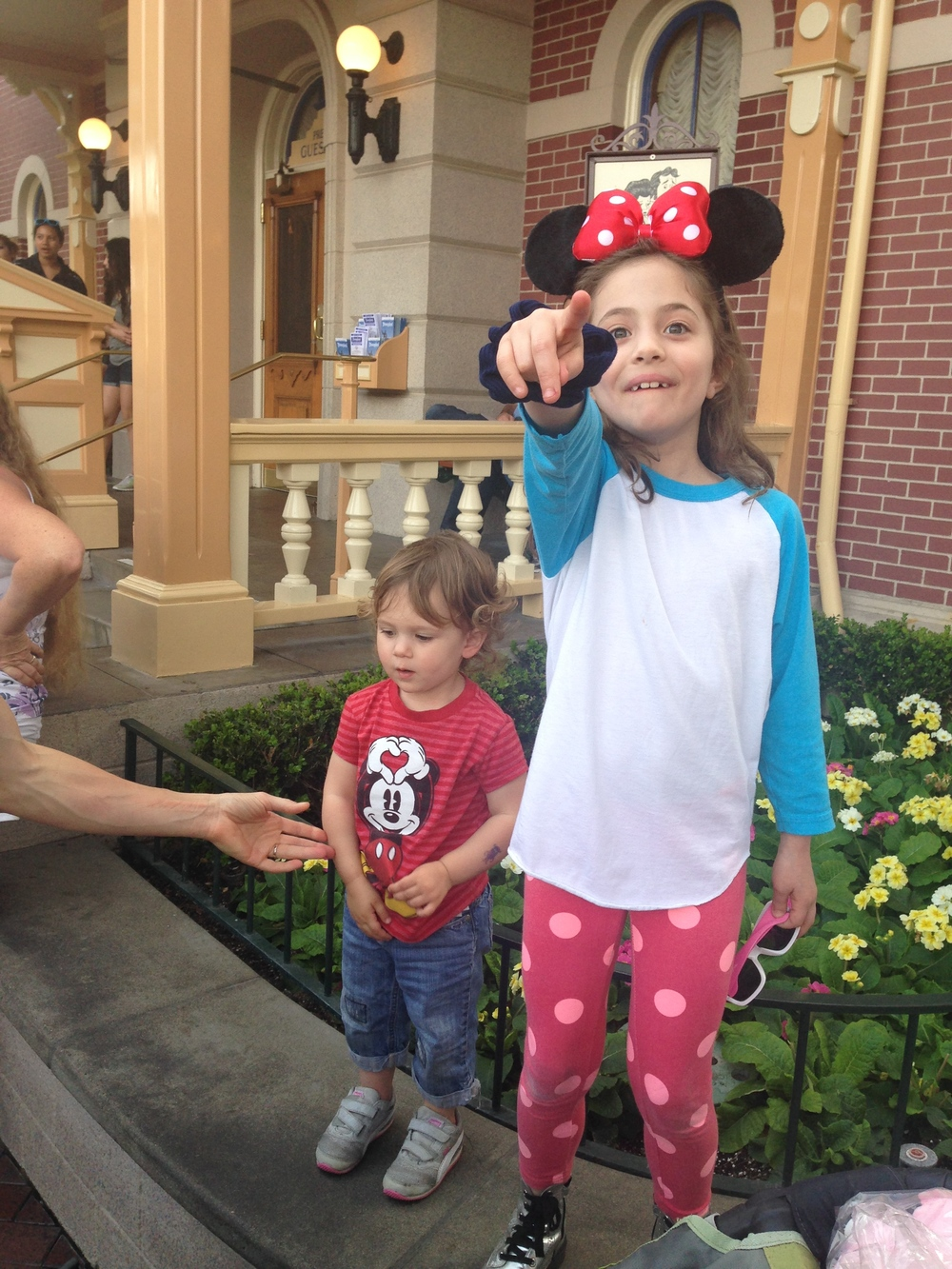 My daughter and my dearest friend's daughter at Disneyland