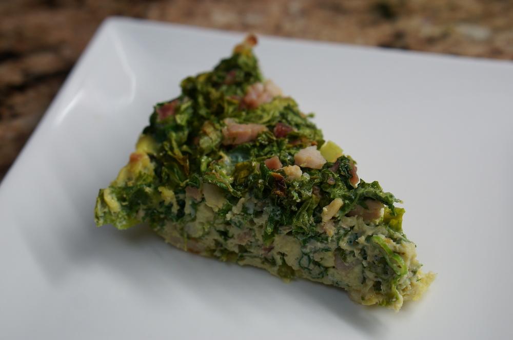 kale and ham frittata