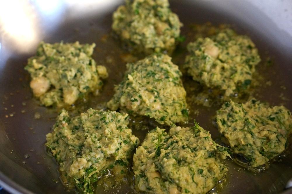 Chick pea kale patties 3