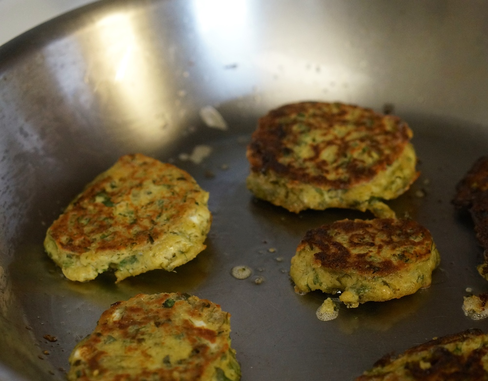 Chick pea kale patties 4
