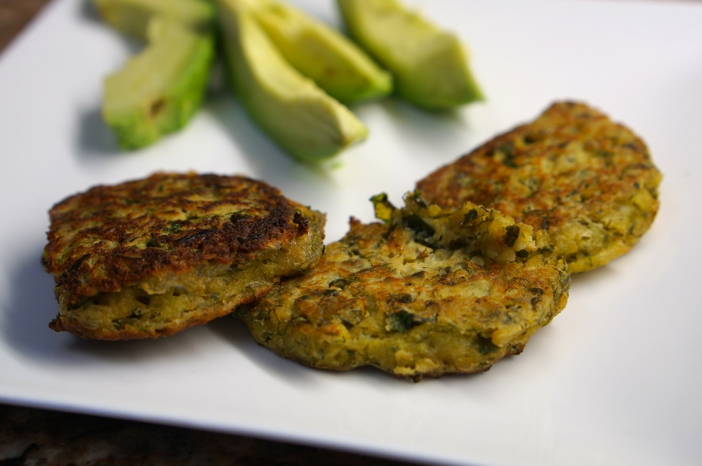 Chick pea Kale patties 5