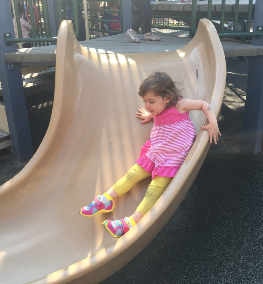2 year old at playground