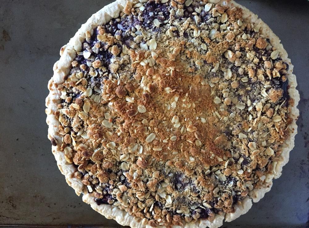 Blueberry Pomegranate Pie