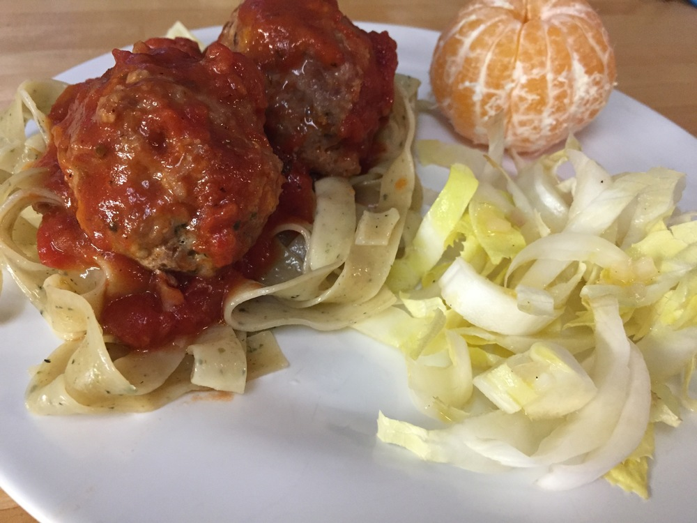 Pasta with Quick Weeknight Turkey Meatballs