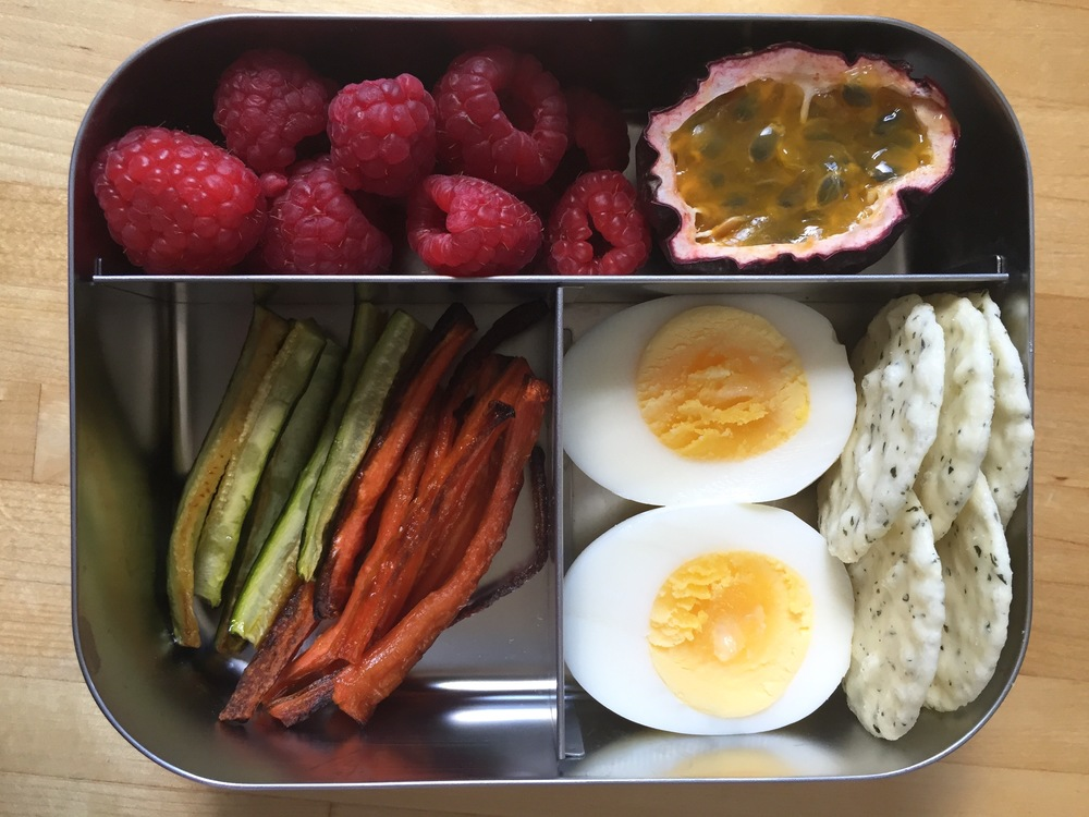 lunchbox with roasted veggies