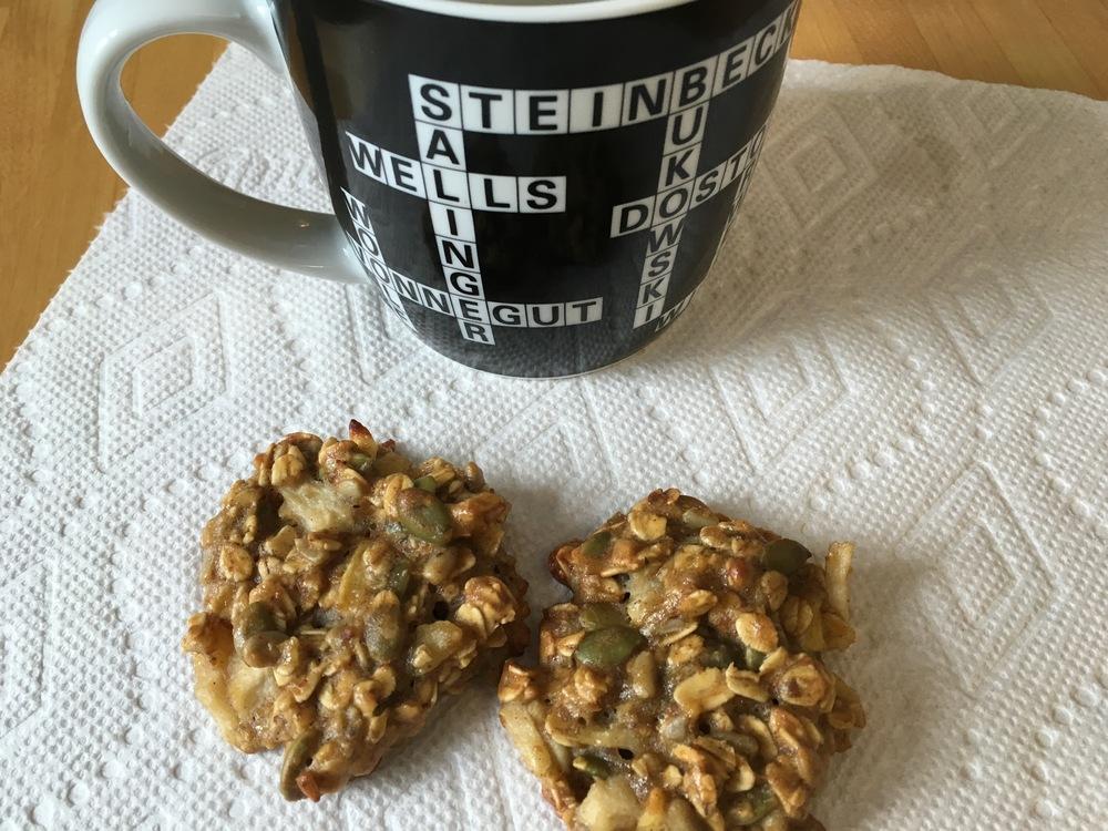 breakfast cookies with coffee
