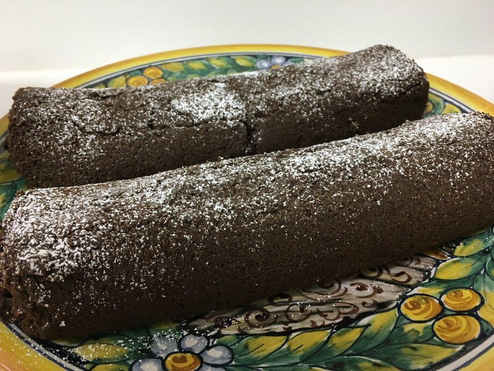 Gluten and Dairy Free Chocolate Roll