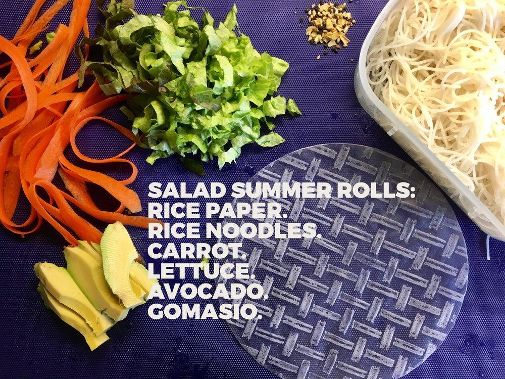 Salad Summer Rolls 1