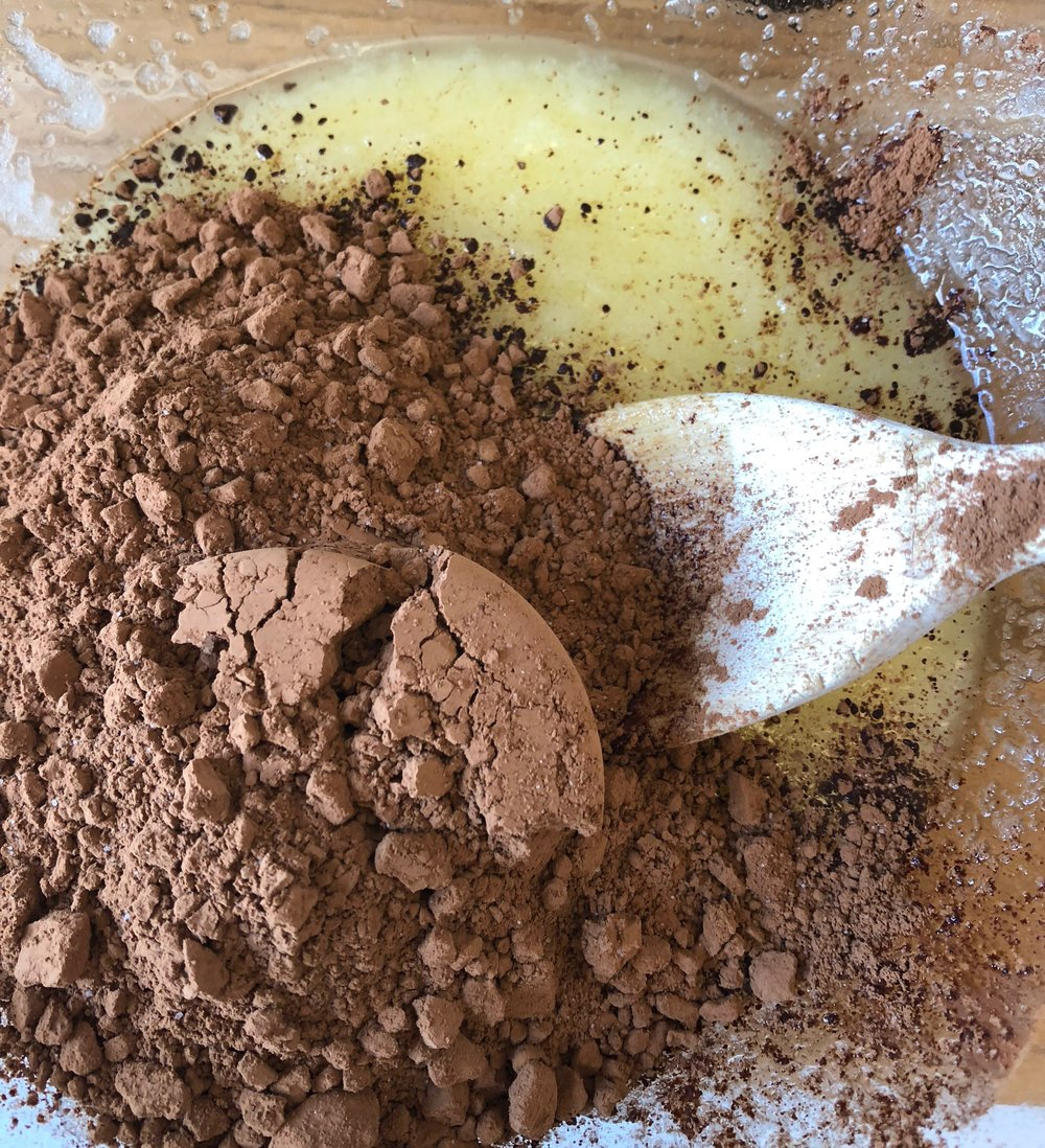 added cocoa powder