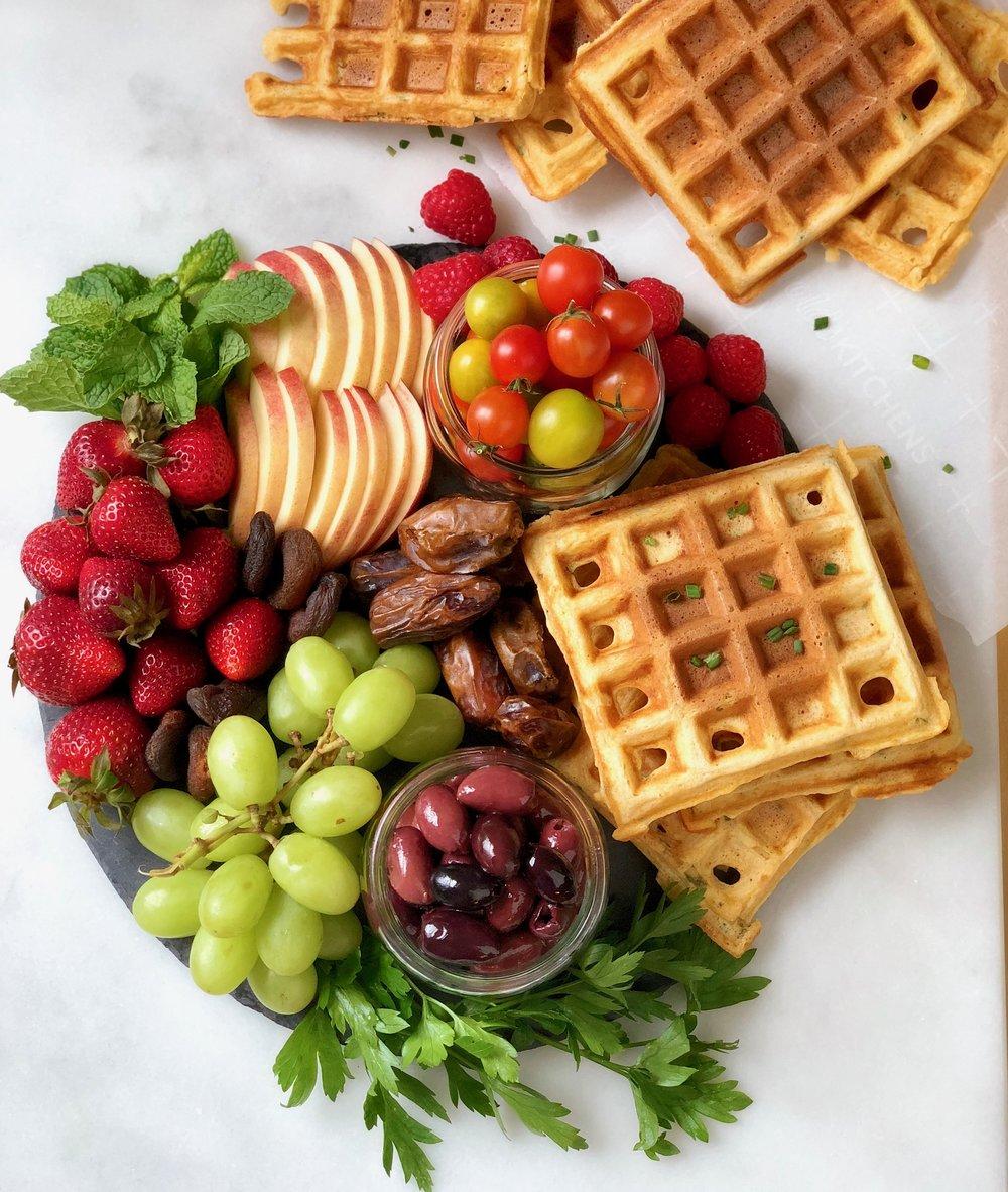 savory waffle platter