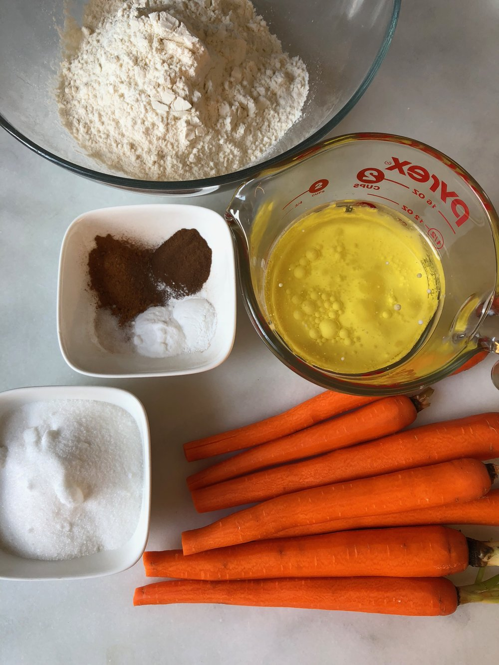 nut free carrot cake ingredients