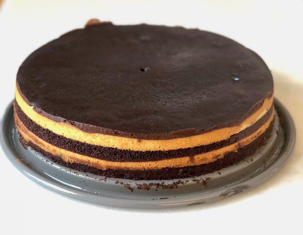 striped cake