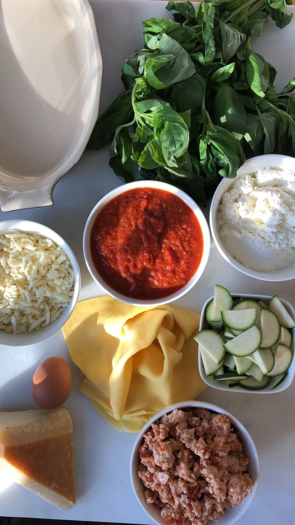 Lasagne Lattice Pie ingredients