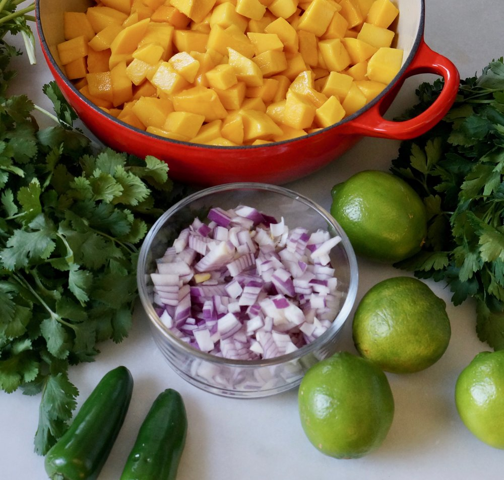 Mango Salad ingredients