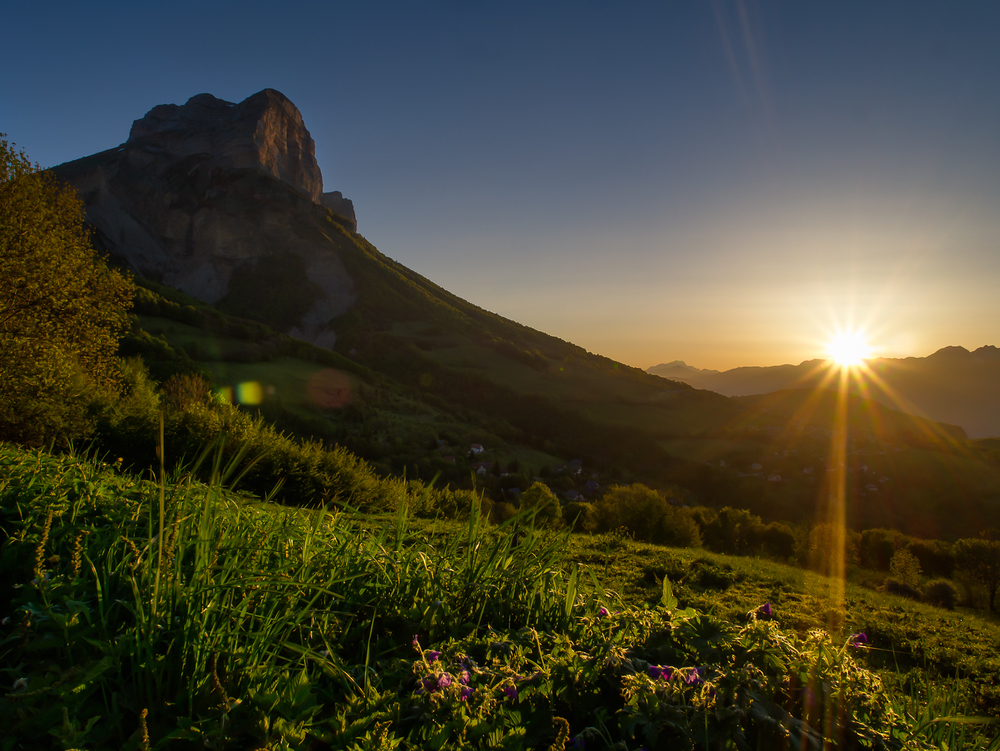 Dent du Crolles at Sunrise