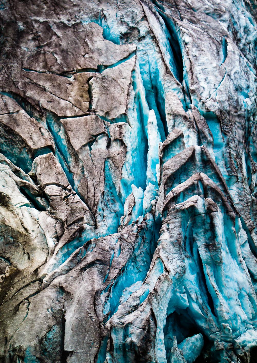 Haute route glacier