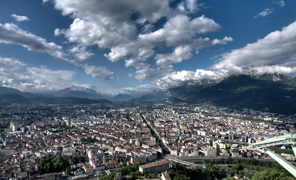 Grenoble from the Bastille