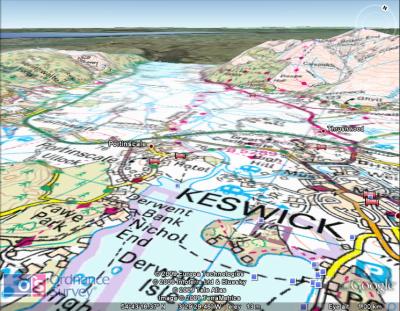 OS Map overlay on Google Earth