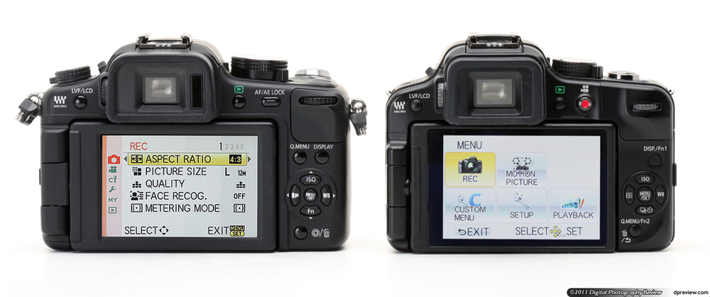 Panasonic G2 to G3 comparison