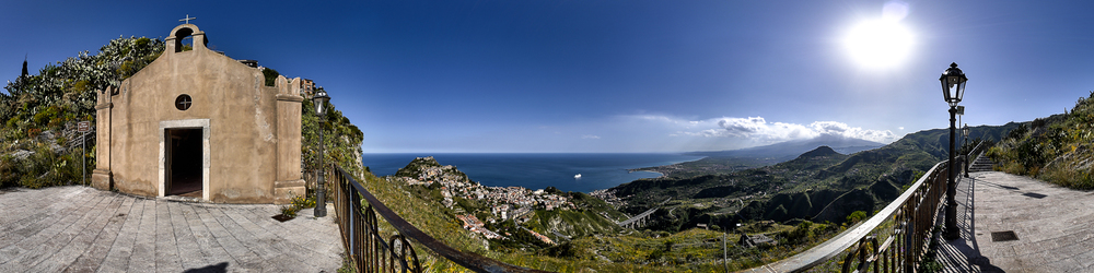 Looking Down From Castelmola onto Taormina