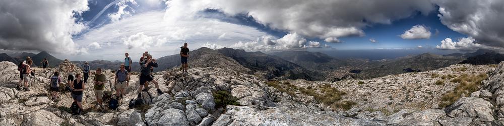 View from es Cornador Gran (953m) to Soller and Port de Soller on Mallorca