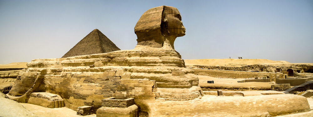 The Sphinx has a pyramid on his back