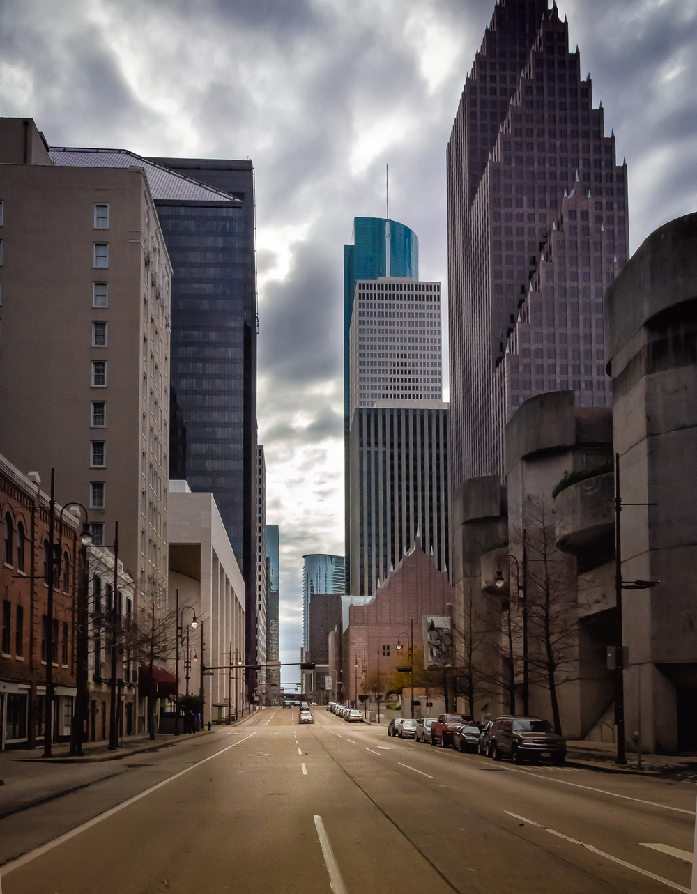 Street in downtown Houston