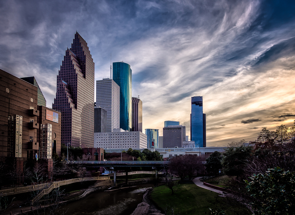 Downtown Houston from the Buffalo Bayou