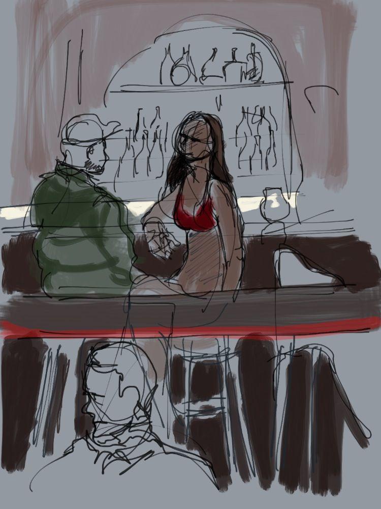 1:6:2012 Stripper talking to customer at bar.jpg