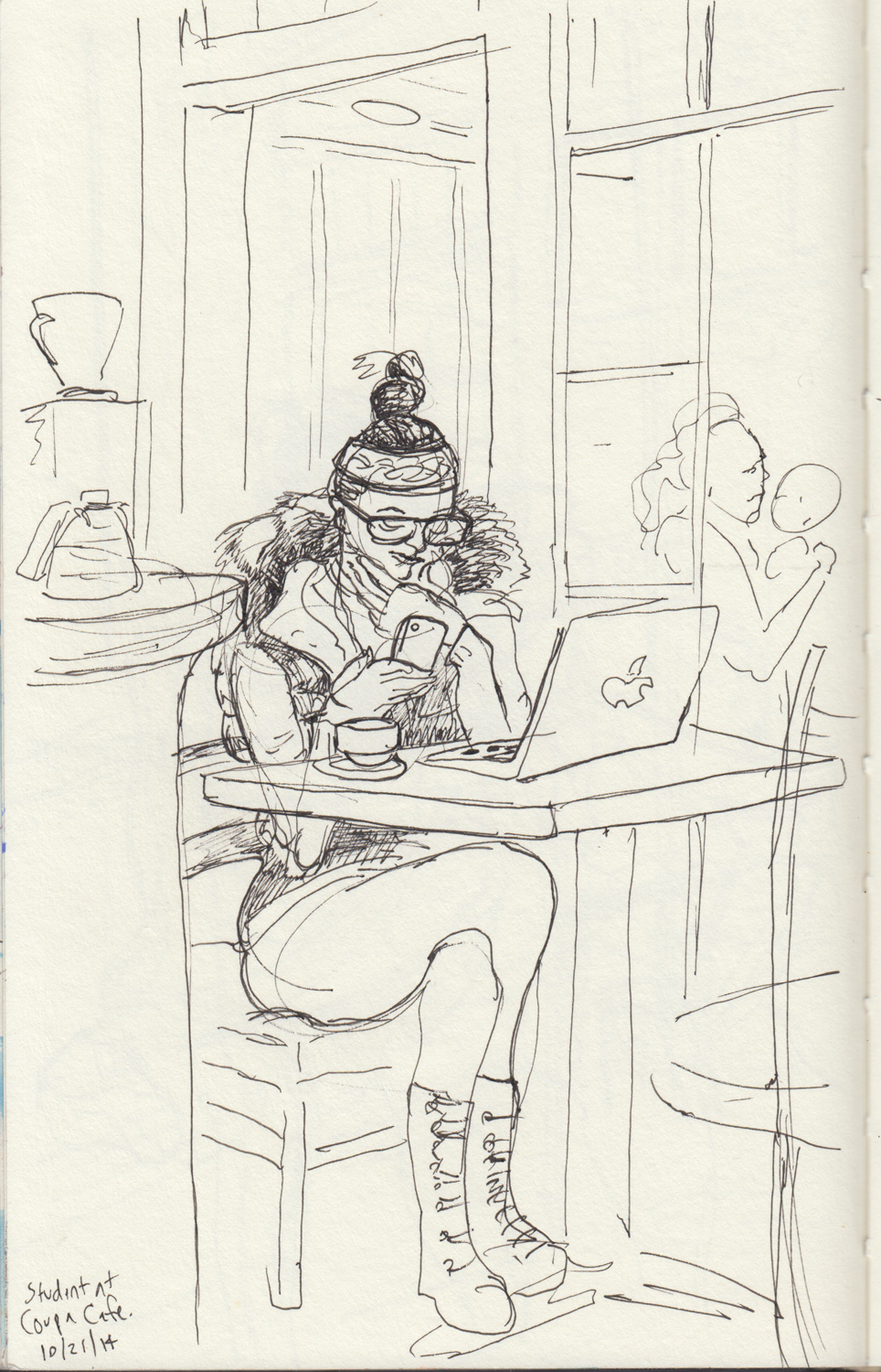 2014 - 10 - 21 - sketchbook - woman at coupa.jpg