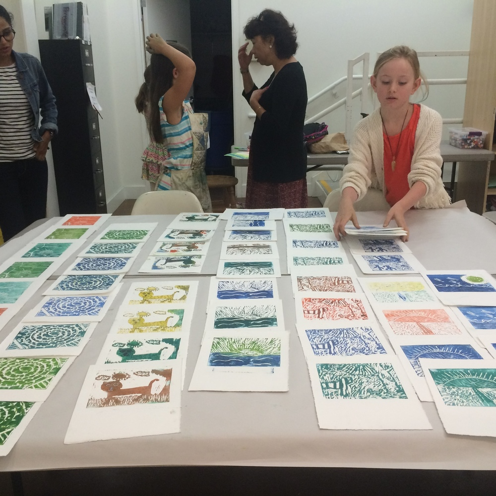 From my Summer Camp Printmaking class at Pacific Art League