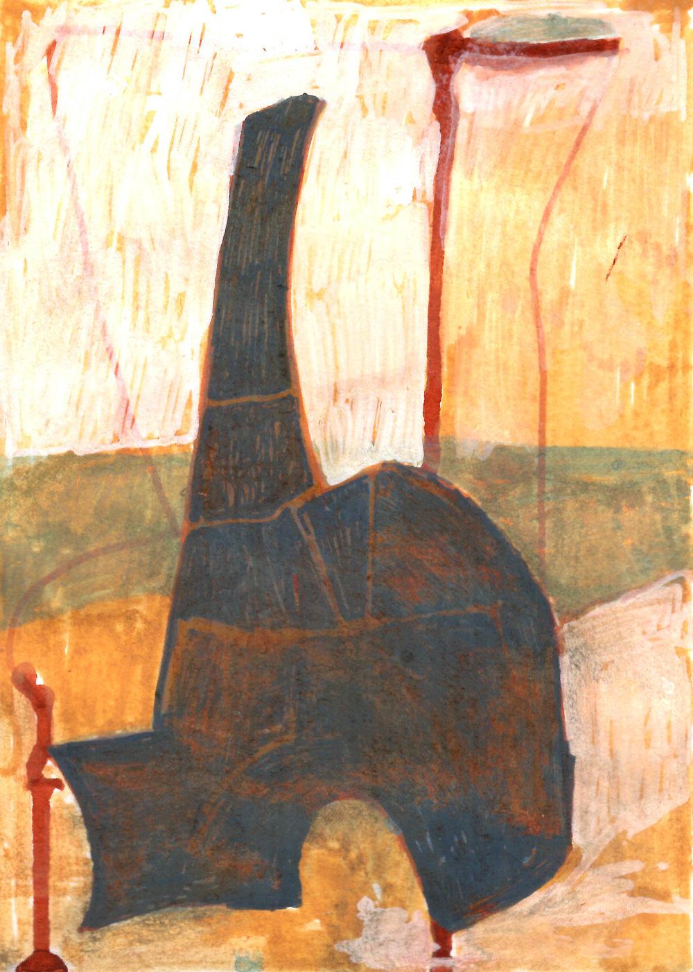 "5"" x 7"", pigment on paper, 2018"