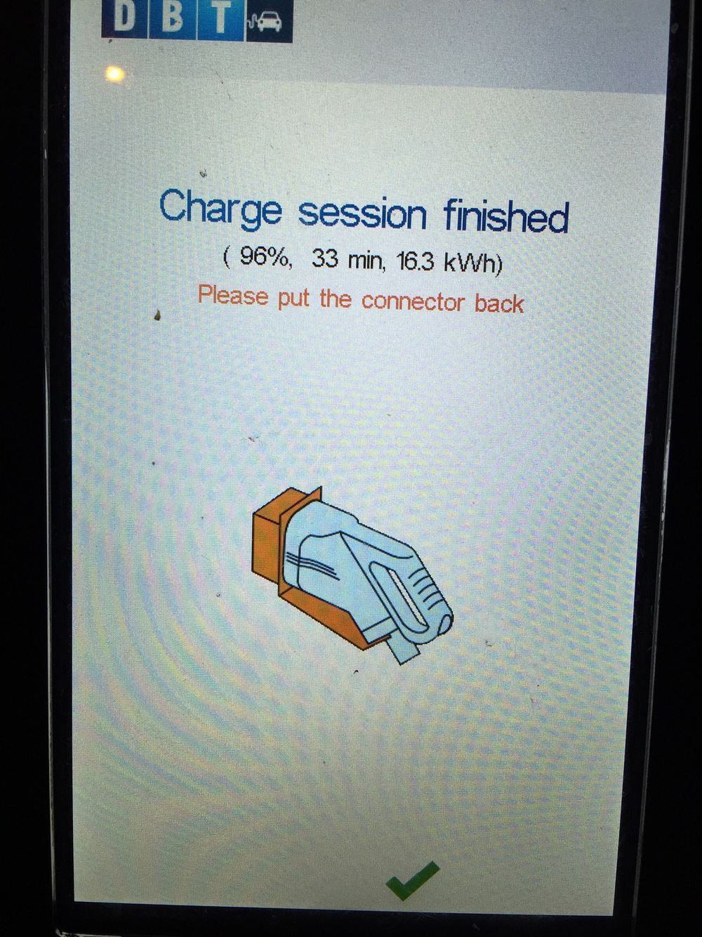 Charge Completed at Exeter Services