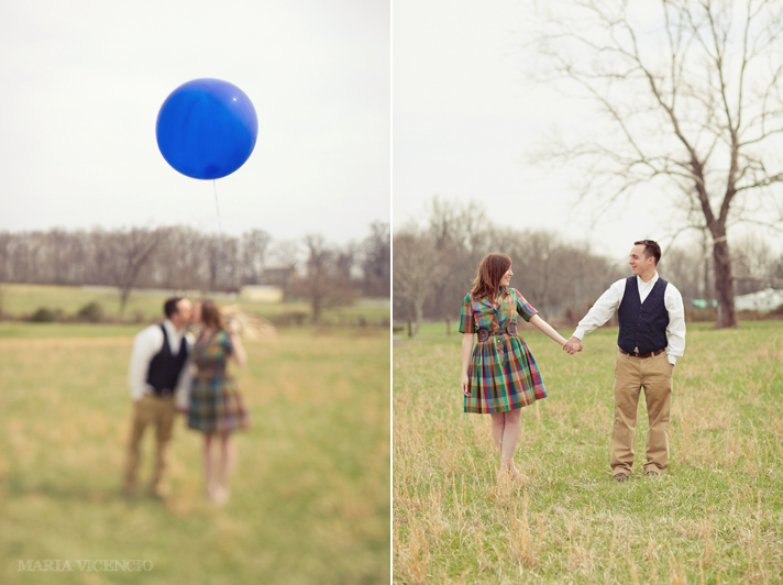 vintage engagement session in leesburg, va