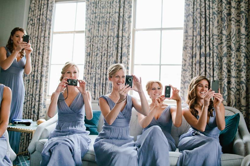 Bridal party at St. Regis Hotel, Photo by Maria Vicencio Photography