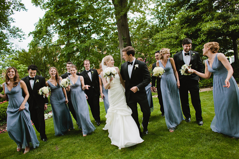 Bridal party at the Meridian House by Maria Vicencio Photography
