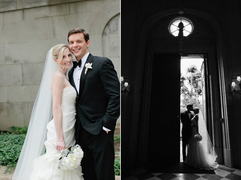 Bride and groom at the Meridian House by Maria Vicencio Photography