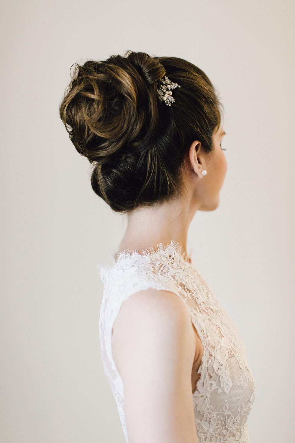 Back of bride's hair by Bridal Hair by Remona - Maria Vicencio Photography Weddings