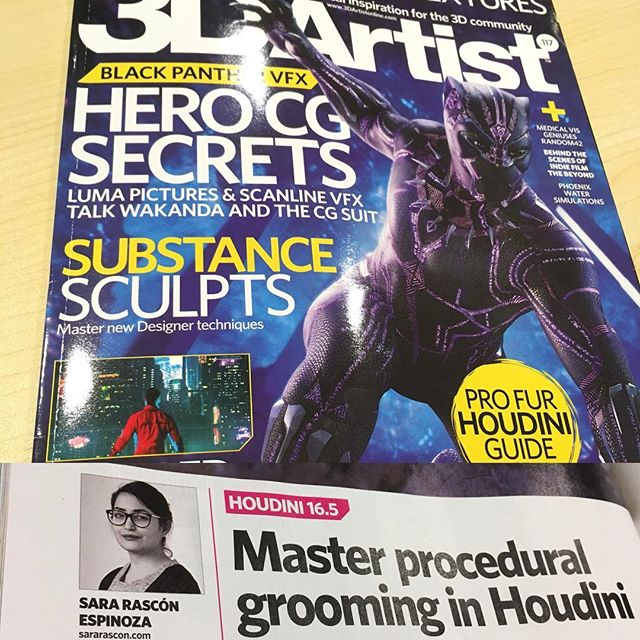 Huge congratulations to VFT '17 grad Sara Rascon whose Houdini tutorial was published in the latest issue of 3D Artist magazine. Sara's work was prominently featured in the demo materials when Houdini 16.5 launched. Everyone at the school is very proud of you!