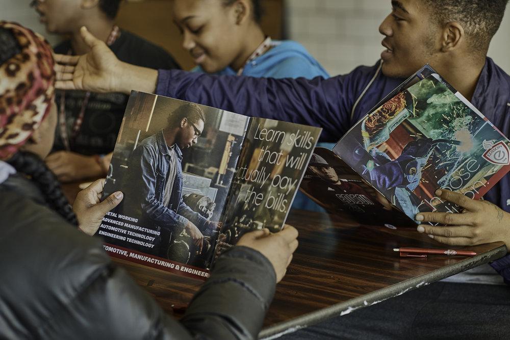 Viewbooks were the cornerstone of the campaign.