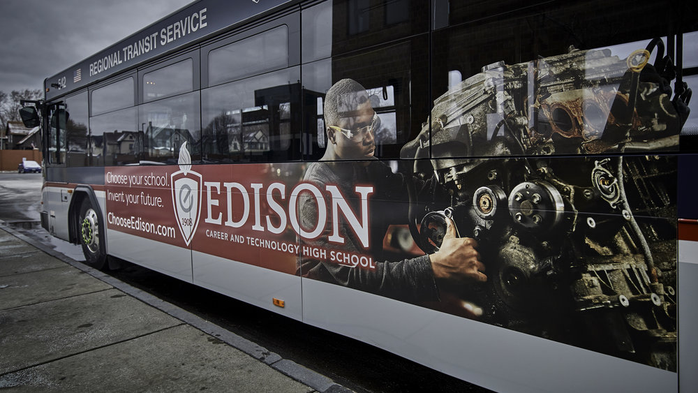 Bus ad - side (one of four)