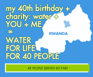 Help 40 gain access to clean water for my 40th birthday