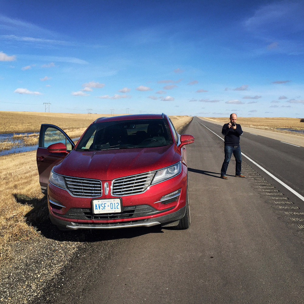 Aidan and a  Lincoln MKC  we've been testing out (but that's another story)