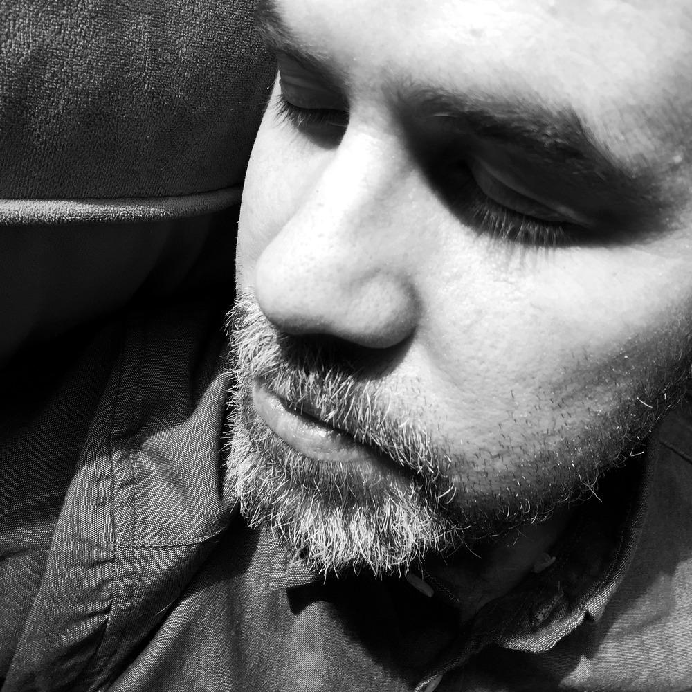Aidan  napping.
