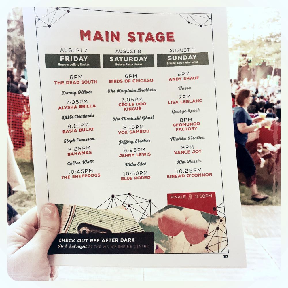 Regina Folk Fest 2015 program