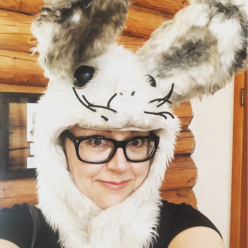 This is me, Elan Morgan, as a bunny rabbit.