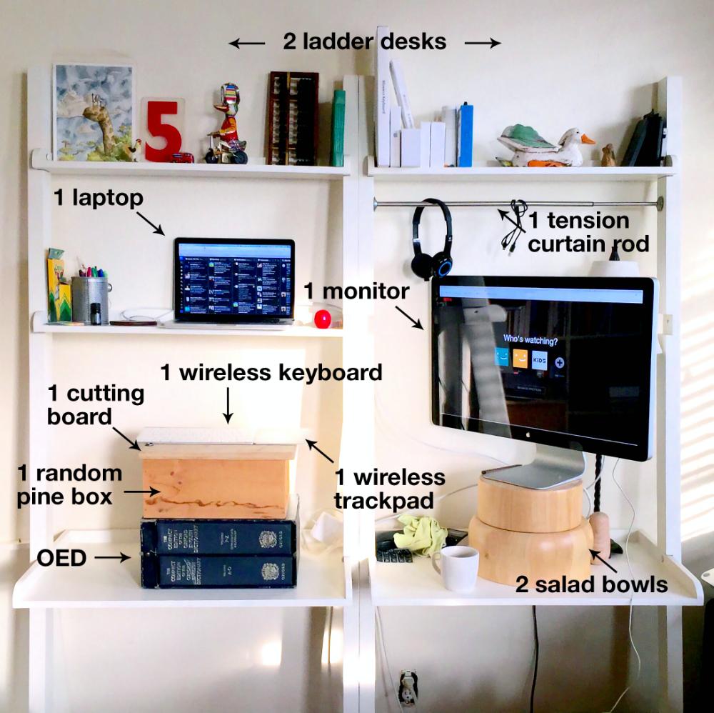 How I Built an Ergonomic Adjustable Standing Desk For Free Elan