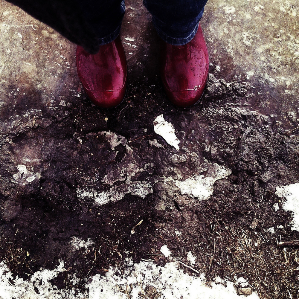 boots and spring mud